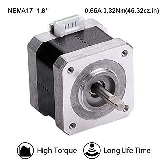 Moons NEMA17 - Motor paso a paso para impresora 3D de 0,32 Nm (45 ...