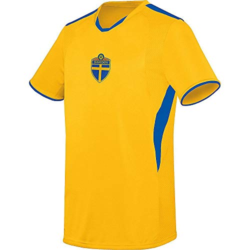 Augusta Soccer Jerseys - Augusta Sports Adult Medium Sweden (Blank Back) International Soccer Jersey