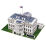 White House 3D Puzzle 64 Pieces US Presidential Landmark Display