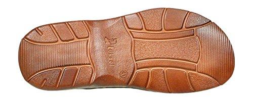 Bufalo Modello Uomo Cognac Sandali Vera di 816 Scarpe Pelle Confortevoli in Ortopedici qUxOB0