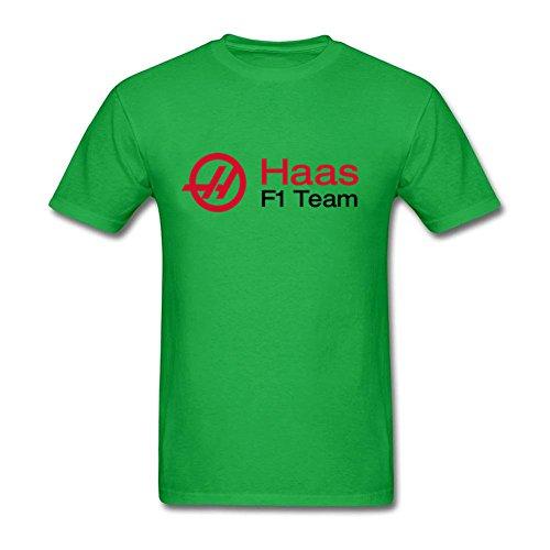 Nine P Men's Haas F1 Team Haas Racing 100% Cotton Classical T-Shirt Kelly Green XXL
