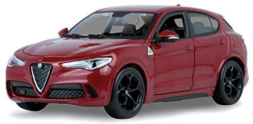 New DIECAST Toys CAR BBURAGO 1:24 W/B - ALFA Romeo Stelvio QUADRIFOGLIO (RED) 18-21086RD