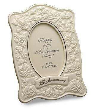 San Francisco Music Box Company - Le Blanc 25th Anniversary Roses Frame by San Francisco Music Box Company