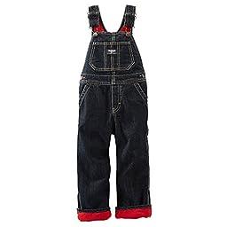 Oshkosh B\'gosh Baby Boys\' Denim Overalls - Red Lined - 6 Months