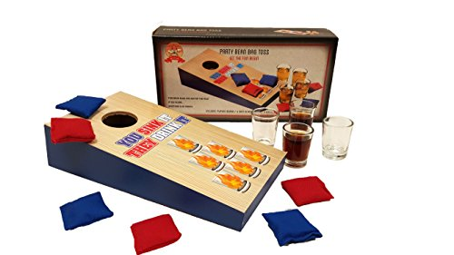 Party Drinking Games, Shot Glass Basketball, Shot Glass Corn Hole Toss, Spin The Arrow Shot Glass Game, Hammer Shot Glass Party Game (Corn Hole Shot Glass)