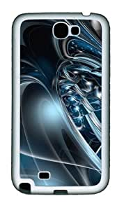 3D Abstract Hd Personalized Samsung Galaxy Note 2/ Note II/ N7100 Case and Cover - TPU - Black