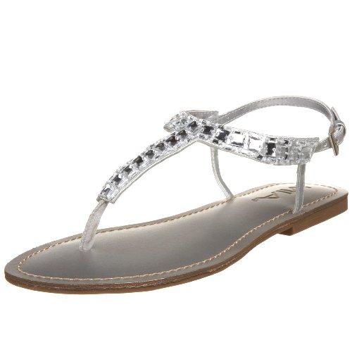 MIA Women's Tiara T-Strap Sandal,Silver,8.5 M US