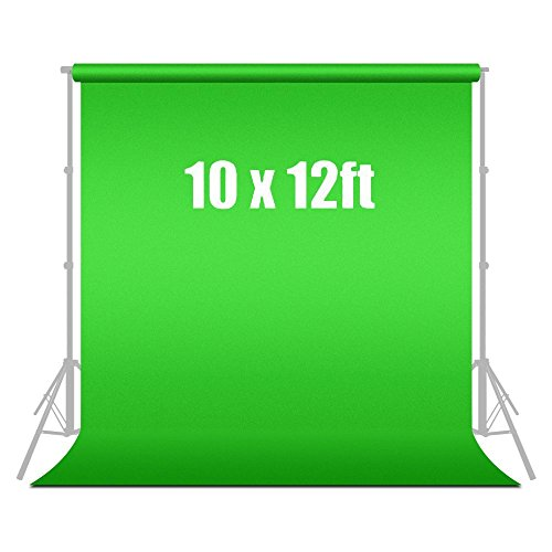 Limo10 Ft X 12 Ft Green Chromakey Photo Video Fabric Backdrop Background Screen, Agg187V2 by LimoStudio