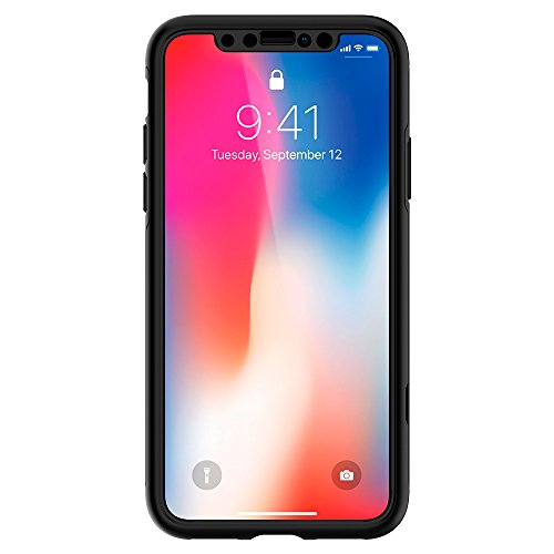 Spigen Thin Fit 360 iPhone X Case with Exact Slim Full Protection with 2 Packs of Tempered Glass Screen Protector for Apple iPhone X (2017) - Black by Spigen (Image #6)