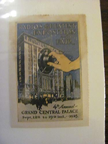 RADIO'S GREATEST EXPOSITION, Grand Central Palace, 1924 poster stamp