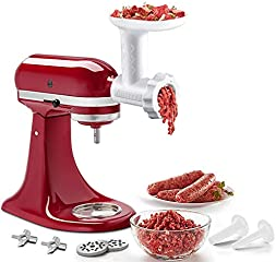 Food Meat Grinder Attachments for KitchenAid Stand Mixers, Durable Meat Grinder, Sausage Stuffer Attachment Compatible...
