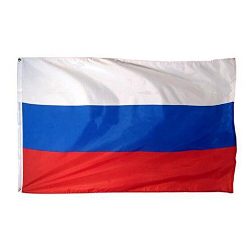Aiyani Russia Flag 3'x5' New Polyester 3x5 Russian Banner Russian Federation National Flags (Pack of 3)