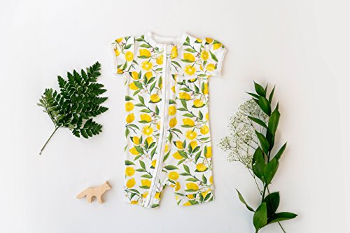Frugal Organics Zipper Romper Short Sleeve Sizes NB- 24M | 6 Patterns