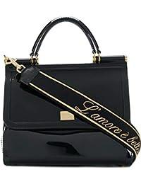 Women's BB6235AU6988S574 Black Pvc Handbag