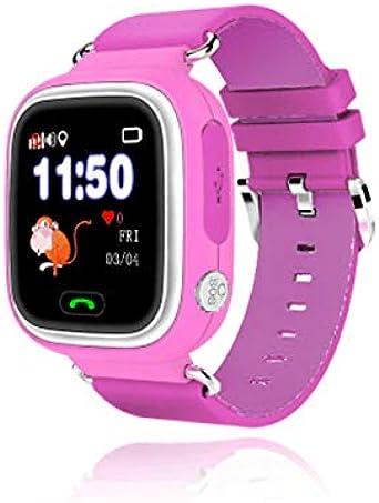 Leotec LESWKIDS02P Smartwatch Kids Way GPS Rosa: Amazon ...