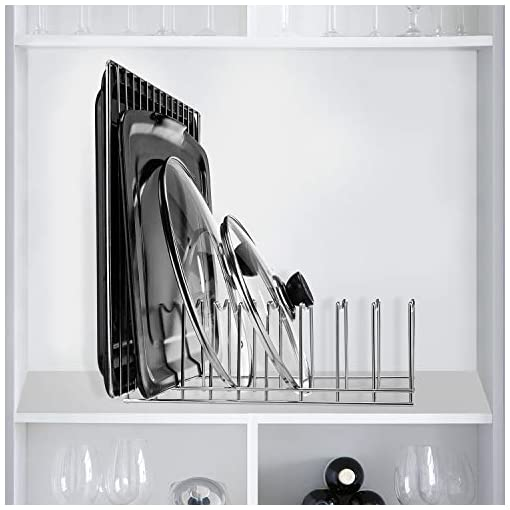 Kitchen Kitchen Pot Lid Holder Organizer, Rack Cutting Boards, Bakeware, Reusable Containers, Plates pot lid holders