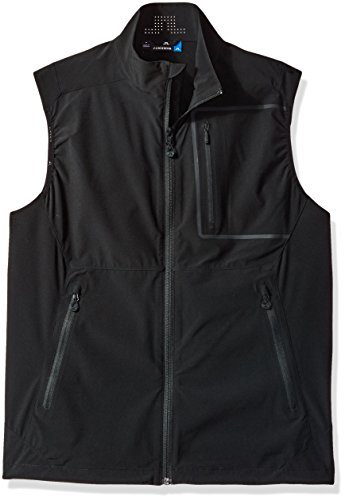 J.Lindeberg Men's Water Repellent Soft Shell Vest, Black, (J Lindeberg Vest)