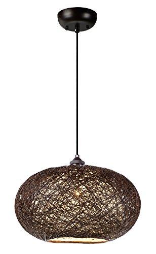 - Maxim 14402CHWT, Bali Incandescent Single Pendant, 1 Light, 60 Watts