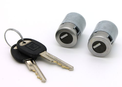 Lockcraft LKC-5070008 Door Lock Cylinder Pair in Silver for Chevy & GMC C/K Pickup Trucks & SUVs
