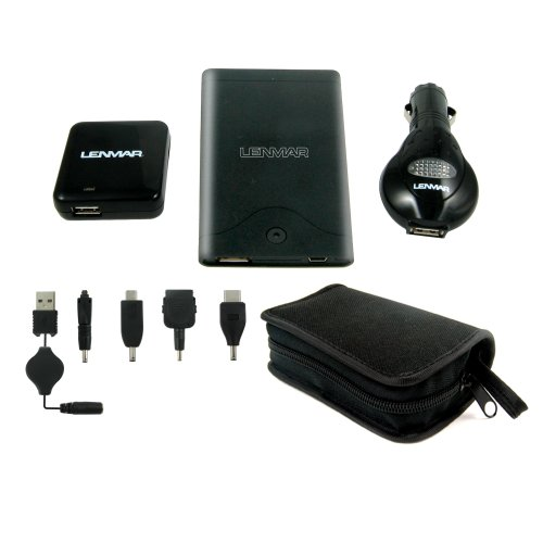 Lenmar Universal Power Pack Kit with AC/DC USB Power Adapter - Black (Ac Lenmar Power Supply)