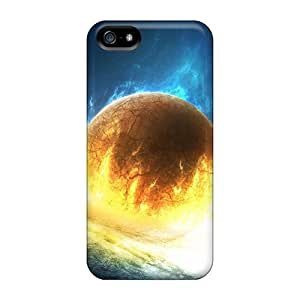First-class Case Cover For Iphone 5/5s Dual Protection Cover Gone In Flames