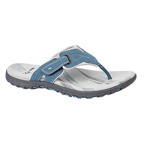 Sandalias PDQ de para Azul material sintético abiertas mujer qpCxdarp