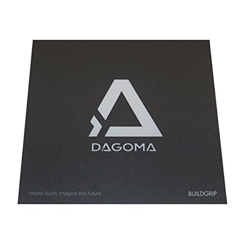 Support d'accroche BuildGrip par DAGOMA | Support adhé sif, 20x20cm, compatible filament PLA, compatible Discoeasy200 - Accessoire indispensable - Gris & Blanc 3760245231047