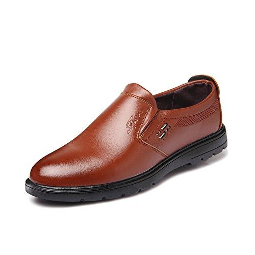WZG zapatos de vestir de negocio de los nuevos hombres de la caída del pie establecer perezosos zapatos casuales de los hombres británicos, zapatos de trabajo Yellow