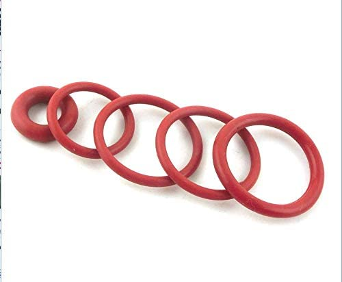 Size : 62x56x3mm no logo 20pcs 3mm Thickness Red O-Ring Seals 60//62//65//68//70//72//75//80//85//90//95mm OD Silicone Heat Resistance O Rings Seals Washer Grommet
