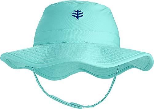 (Coolibar UPF 50+ Baby Splashy Bucket Hat - Sun Protective (12-24 Months- Tropical Mint))