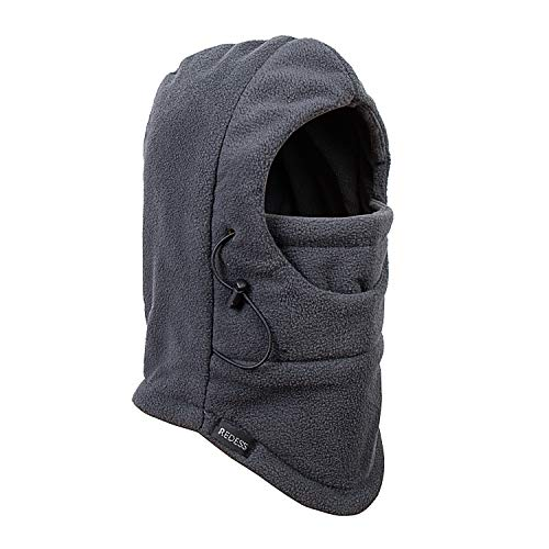 Hat Heavyweight - REDESS Kids Winter Windproof Hat, Unisex Children Heavyweight Balaclava, Ski Mask with Thick Warm Fleece Face Cover for Kids (Dark Grey)