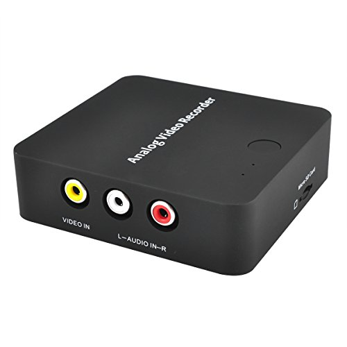 DriverGenius Stand-Alone Video Capture Box,S-Video/Analog RCA Video Recorder Box to MicroSD Card,Convert Old VHS Video Tape to Digital Format with Just One-Button
