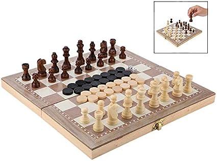 iPobie 3 en 1 Tablero de ajedrez Juego de Ajedrez, Magnético con ...