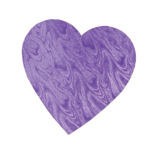 Beistle 77791-EPL 36-Piece Purple Embossed Foil Heart Cutout, (Purple Embossed Foil)