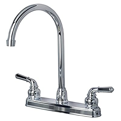 Builders Shoppe RV Mobile Home Non-Metallic High Arc Swivel Kitchen Sink Faucet