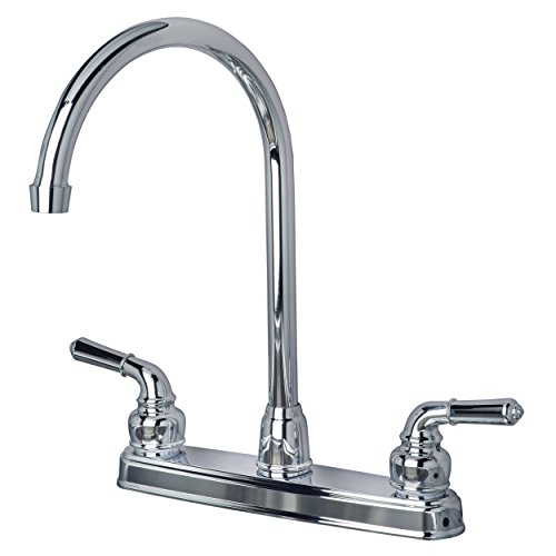 Builders Shoppe 1201CP RV Mobile Home Non-Metallic High Arc Swivel Kitchen Sink Faucet Chrome Finish by Builders Shoppe