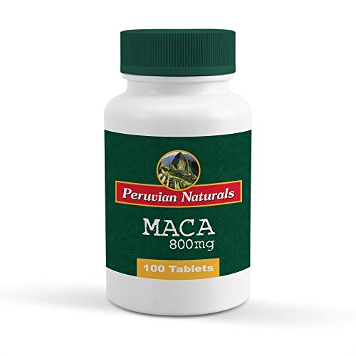 Peruvian Naturals Maca 800mg - 100 Tablets | Made with Raw Maca Root Powder from Peru for Energy and Fertility