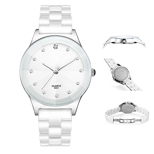 - Classic Casual Quartz Analog Diamond Lady Dress Waterproof Watch with Crystal Ceramic Band for Student ...