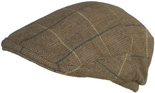 Cappello Wool Blend Classic Ivy Scally Cap Herringbone Plaid Winter Driver Hat (S / M, (Lined Plaid Ivy Cap)