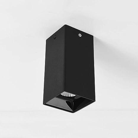 Zkciss LED COB Punto de techo Lámpara cuadrada Superficie ...