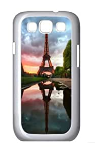 Samsung Galaxy S3 Case Cover - Eiffel Tower Reflection Brand Design PC White Case for Samsung S3/I9300