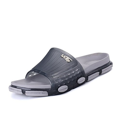 del Suela Exterior Amante Gray del de Unisex de Punta los la la Zapatos Anchos la Abierta Tapa de Dark PVC de Deslizadores para 40YwxXx
