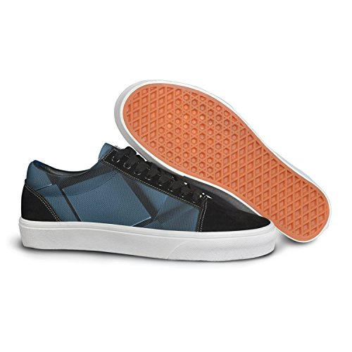 VCERTHDF Print Trendy Art Geometric Stereoscopic Stylish Low Top Canvas Sneakers