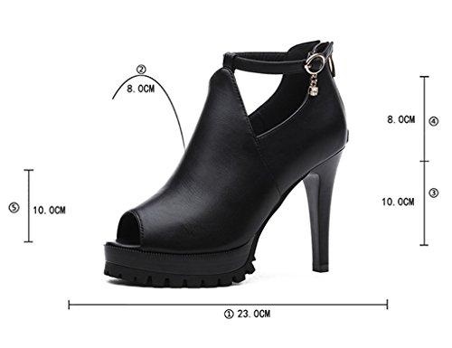 Nero 35 Colore Femminili Dimensioni Profonda Hwf Scarpe Tacco Donna Bocca Col Da Alto TzXv7T