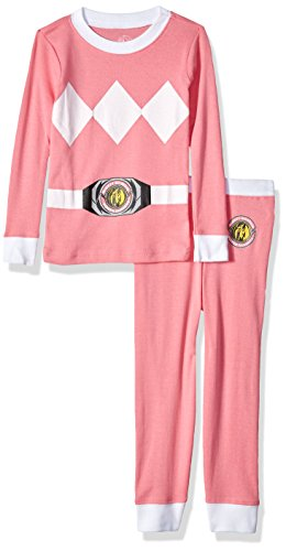 Intimo Girls' Toddler Mighty Morphin Pink Ranger Pajama Set, 4T ()