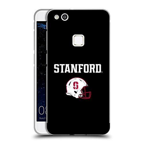 Official Stanford University The Farm Helmet Logotype Black Metallic Aluminum Bumper for Huawei P10 Lite (Head Case Helmet)
