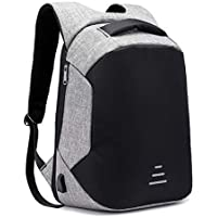 Kossh Anti-Theft Waterproof Casual Backpack with USB Charging Point Smart Fashionable Bagpack for 15.6 to 17 inch Laptop for Travel Office Men Women 30 Ltrs - Grey