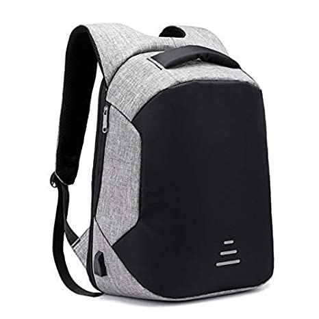Kossh KI- Bag 2018 30-Litre 17-Inch Anti-Theft Waterproof Casual Backpack  with USB Charging Point (Gray)  Amazon.in  Computers   Accessories 43a6b388ac97e