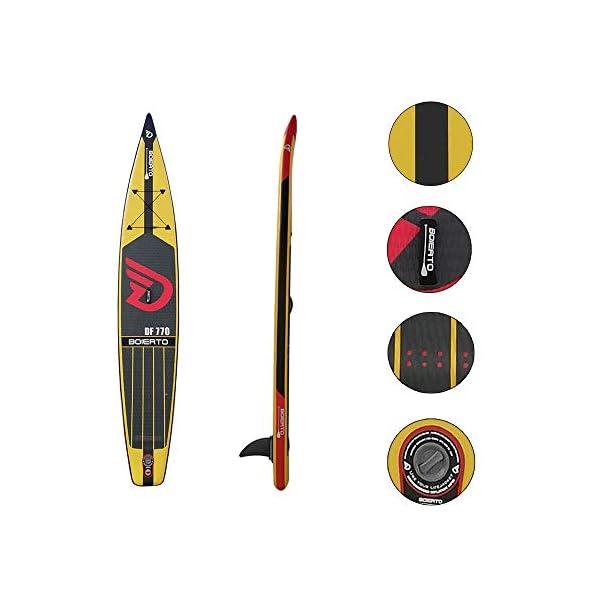 Kanqingqing-Sport Stand Up Paddel Gonfiabile Corsa all Round Gonfiabile SUP Stand Up Paddle Board con Regolabili Zaino… 3 spesavip