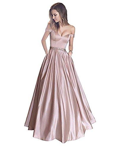 Baijinbai Elegant Damen Lang AbendKleider 2018 Ballkleid Brautjungfernkleider Cocktail Pailetten besetzte Kleider D1 Pink nHVQa